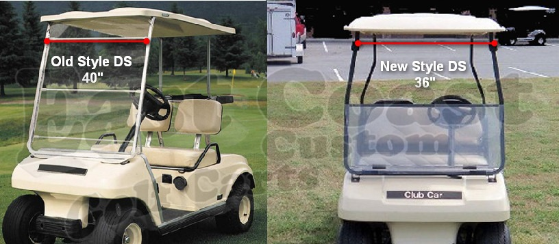 Club Car Ds Tinted Fold Down Windshield
