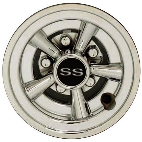 8 Inch SS Chrome Wheel Cover Golf Cart Hub Cap Golf Cart Hub on car hubs, golf car parts product, yamaha hubs, atv hubs, wheel hubs,
