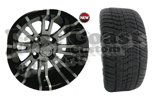 d748c85e306 12x7 RX270 12 spoke Wheel with Low Profile Golf Cart Tire